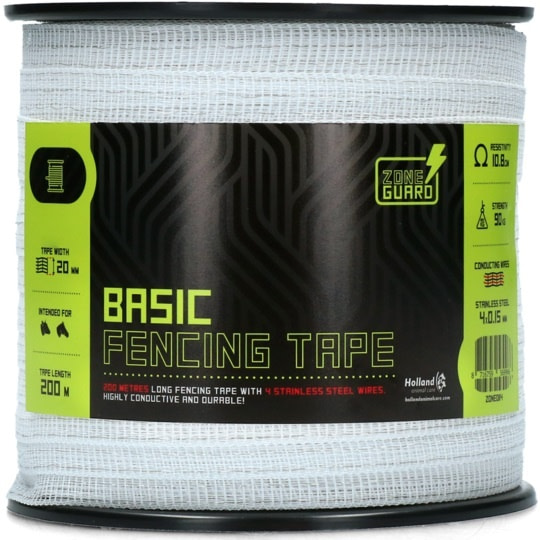 20 mm Basic Zaunband weiß 200 m