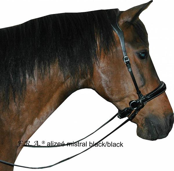 fra-alizee-mistral-side-pull-bitloos-hoofdstel-zwart zwart